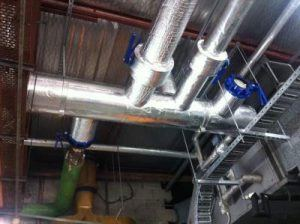 factory pipe insulation installed
